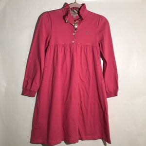 Burberry dress long sleeves pink size 14